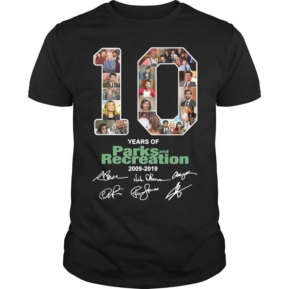 10 Years Of Parks And Recreation Shirt