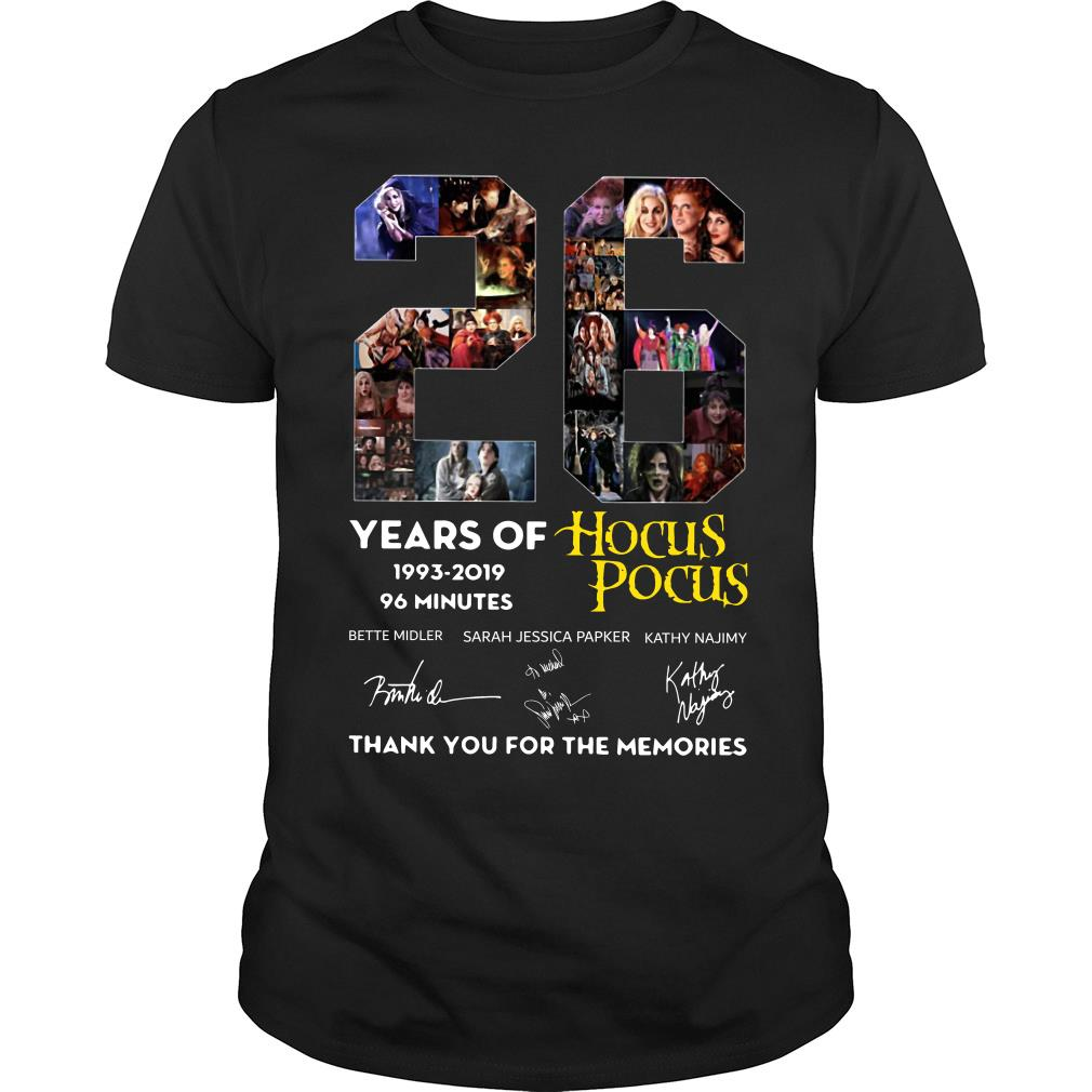26 Years of Tim Burton's the Nightmare Before Christmas thank you for the memories shirt