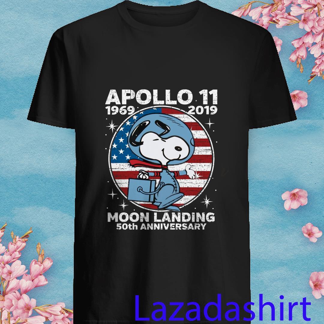 Snoopy Apollo 11 1969 2019 Moon Landing 50th Anniversary Shirt