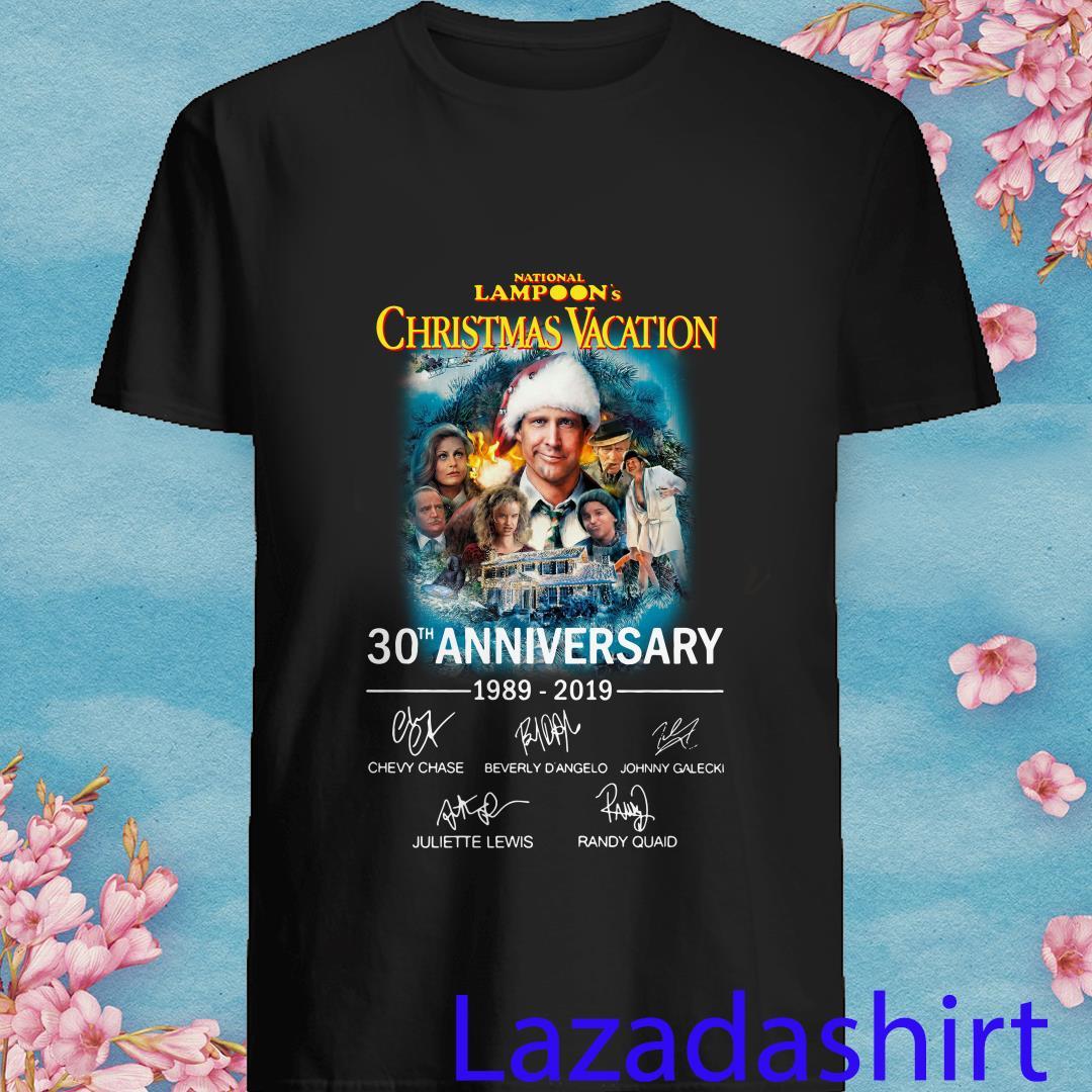 Allbluea National Lampoon's Christmas Vacation 30th Anniversary 1989 2019 Signatures Shirt