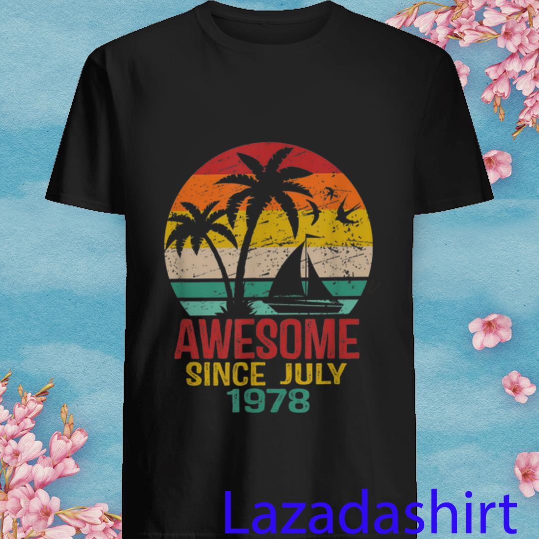 Awesome Since July 1978 41St Birthday Summer Beach Shirt