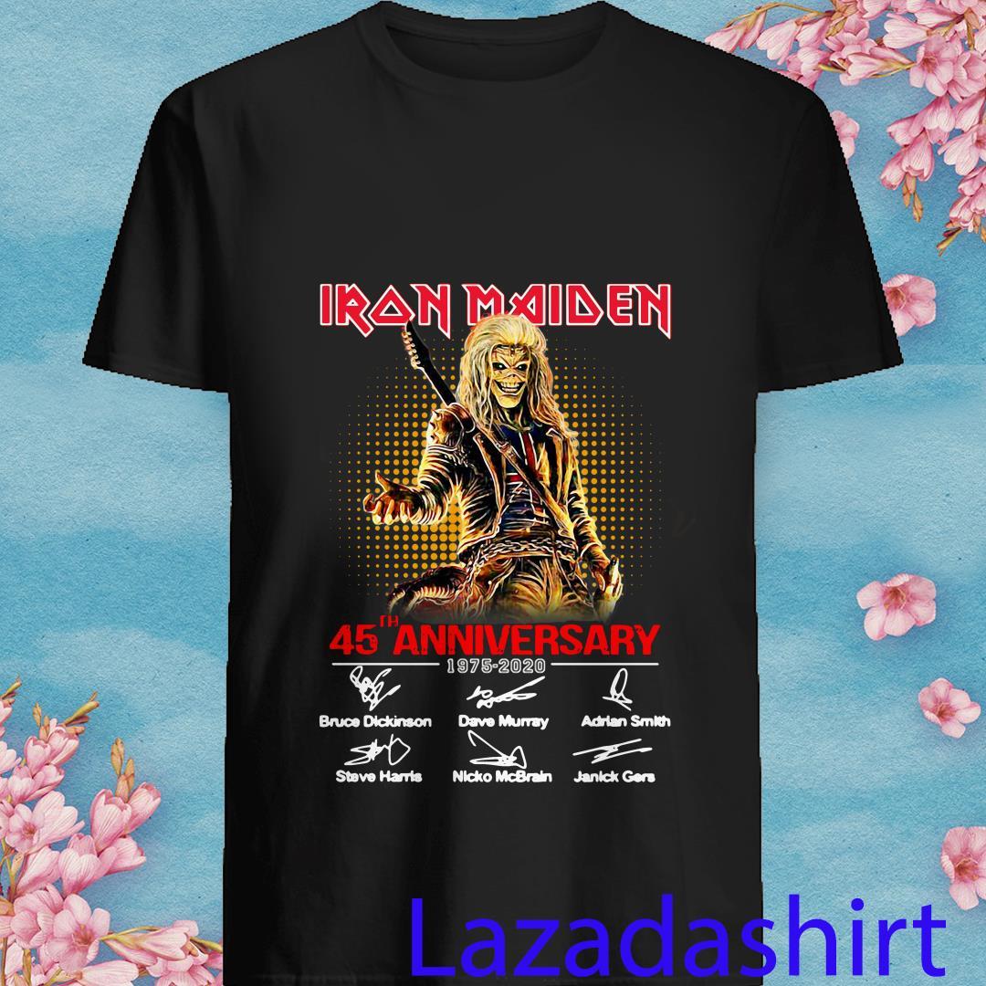 45th Anniversary Iron Maiden 1975 2020 Signature Shirt