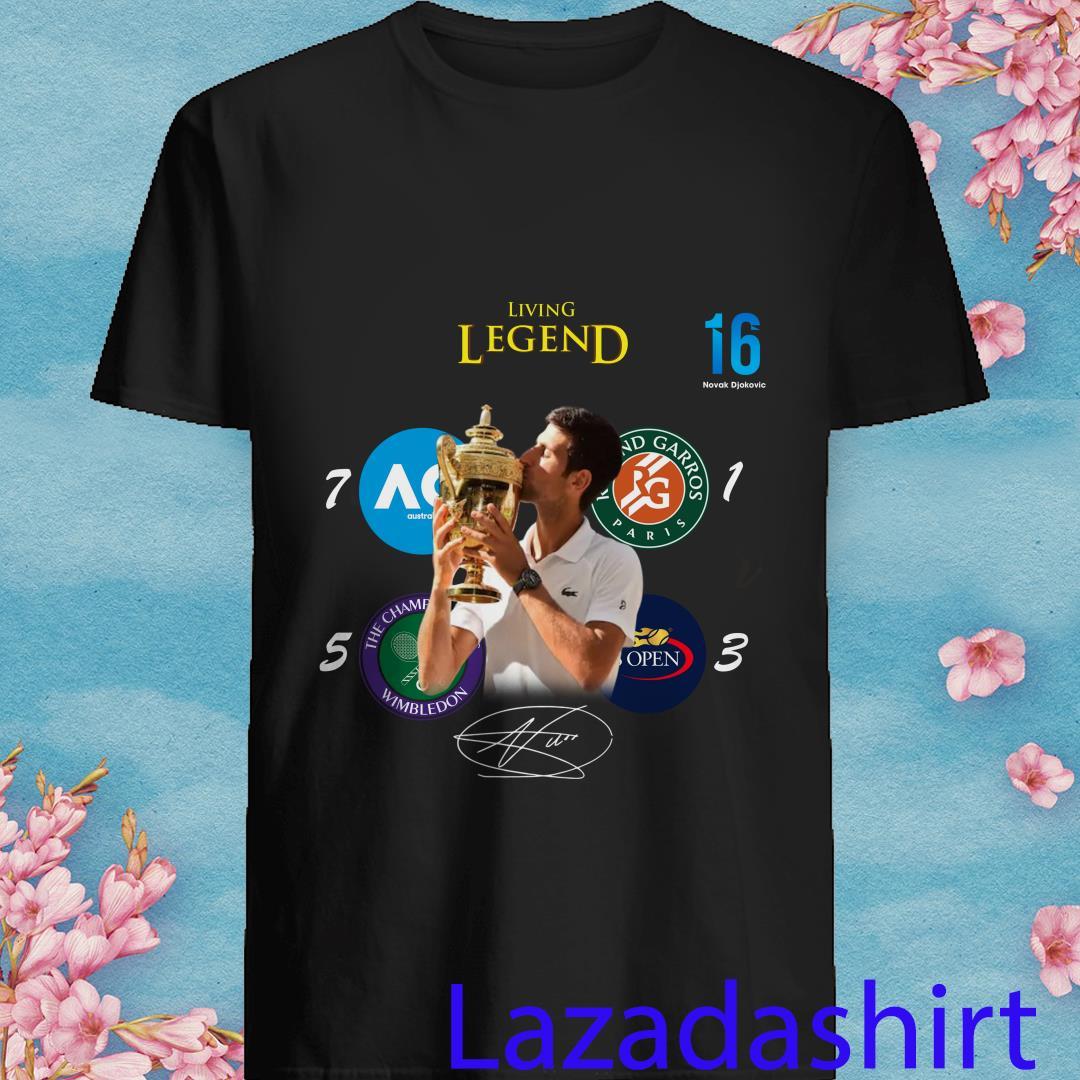 16 Novak Djokovic Living Legend Signature Shirt