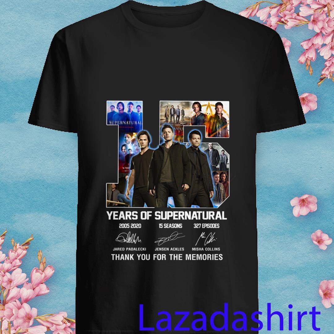 15 Years of Supernatural Jared Padalecki Jensen Ackles Misha Collins Shirt