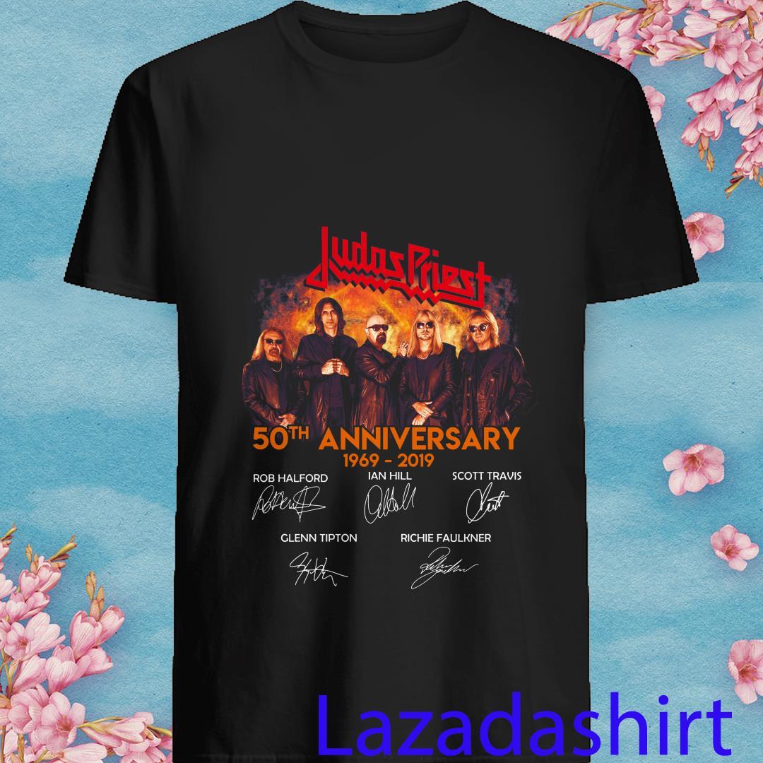 Judas Priest 50th anniversary 1969-2019 signatures shirt