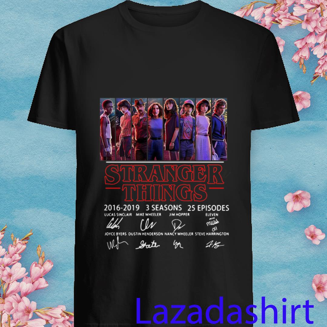 Thank You For The Memories Stranger Things 2016 2019 Shirt