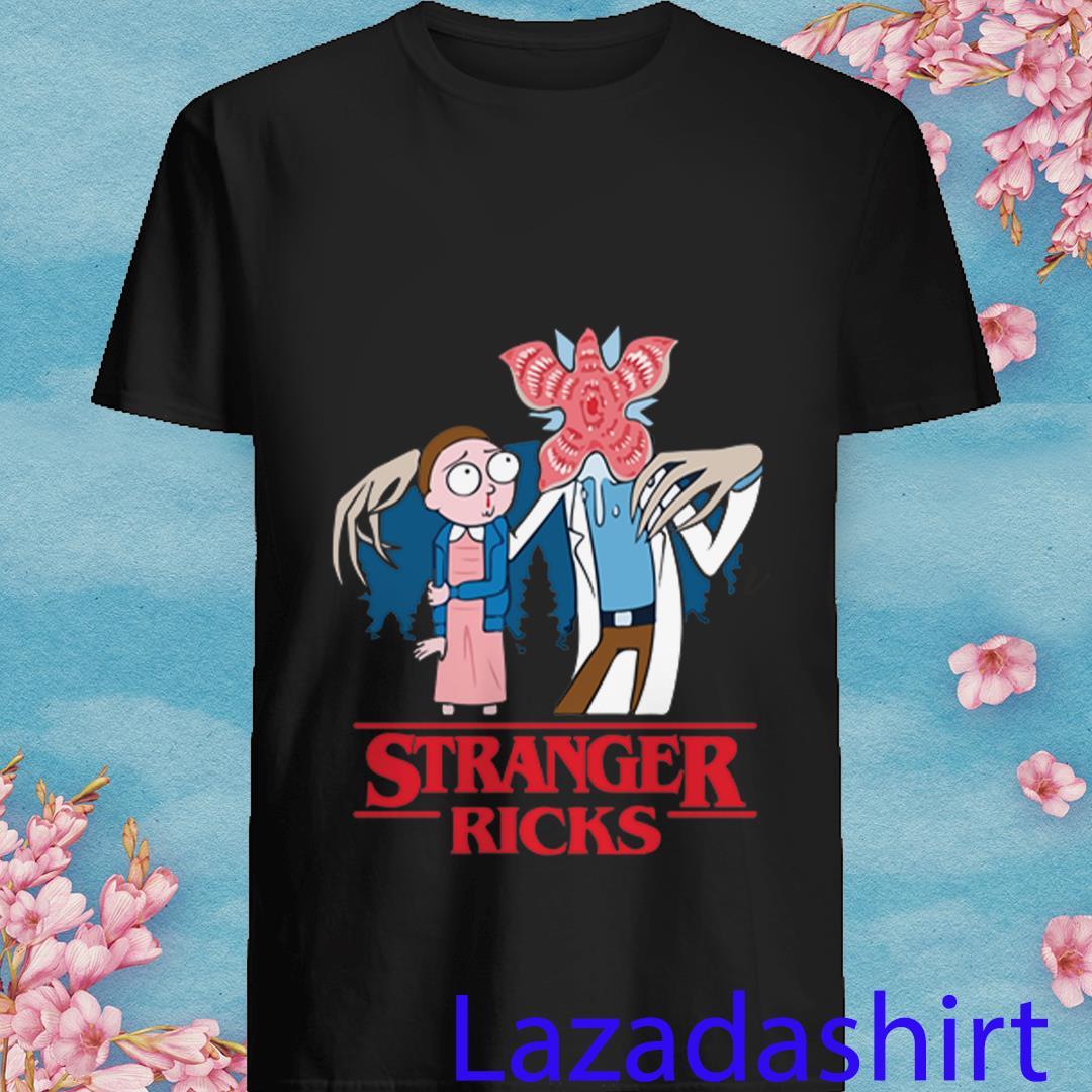 Stranger Ricks Demogorgon Dog Stranger Things 2 and Rick Morty Shirt