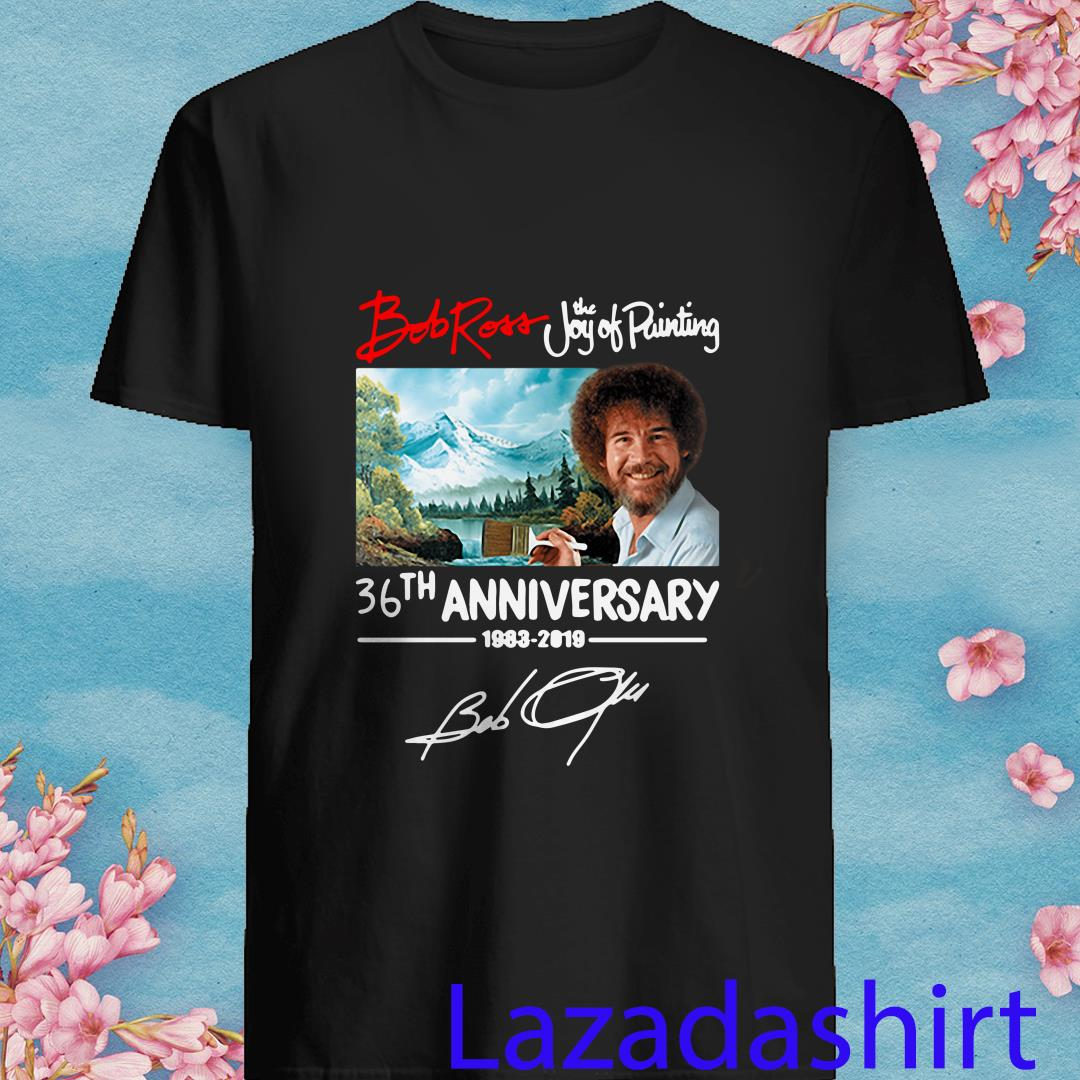 Bob Ross The Joy Of Painting 36th Anniversary 1983 2019 Shirt
