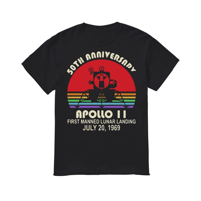 50th Anniversary apollo 11 first manned lunar landing July 20,1969 shirt