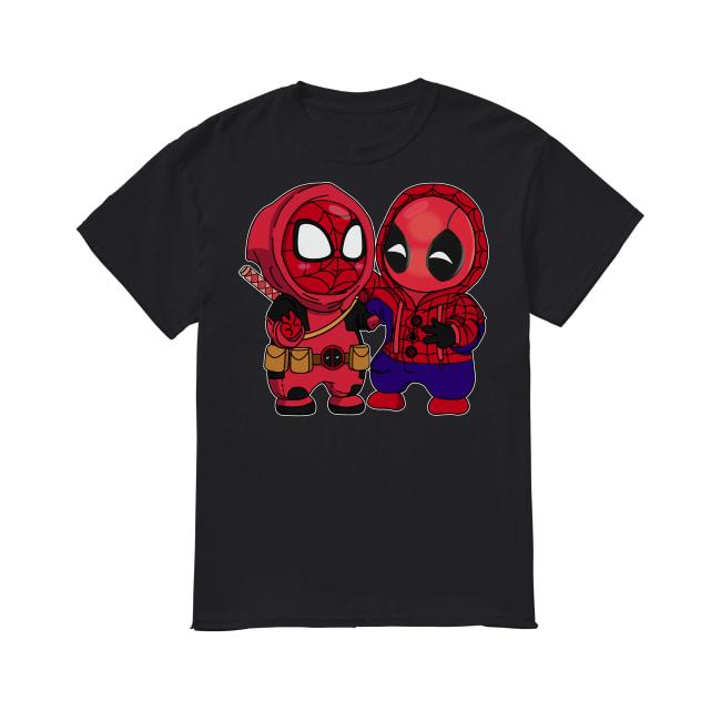 Baby Chibi Spiderman And Deadpool shirt