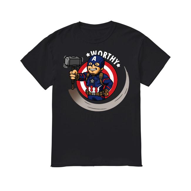 Captain America worthy shirt