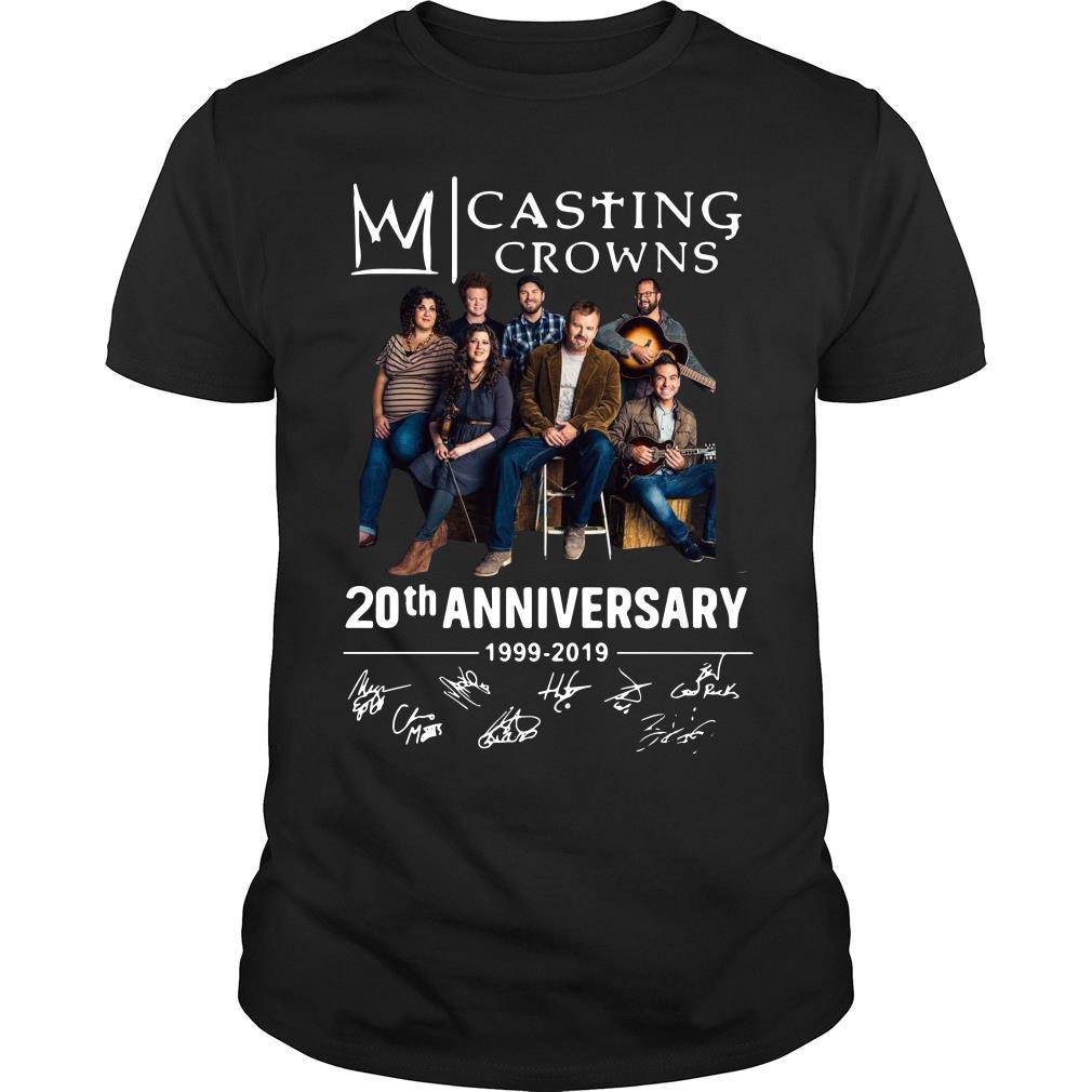 Casting Crowns 20th Anniversary 1999 2019 Signature Shirt