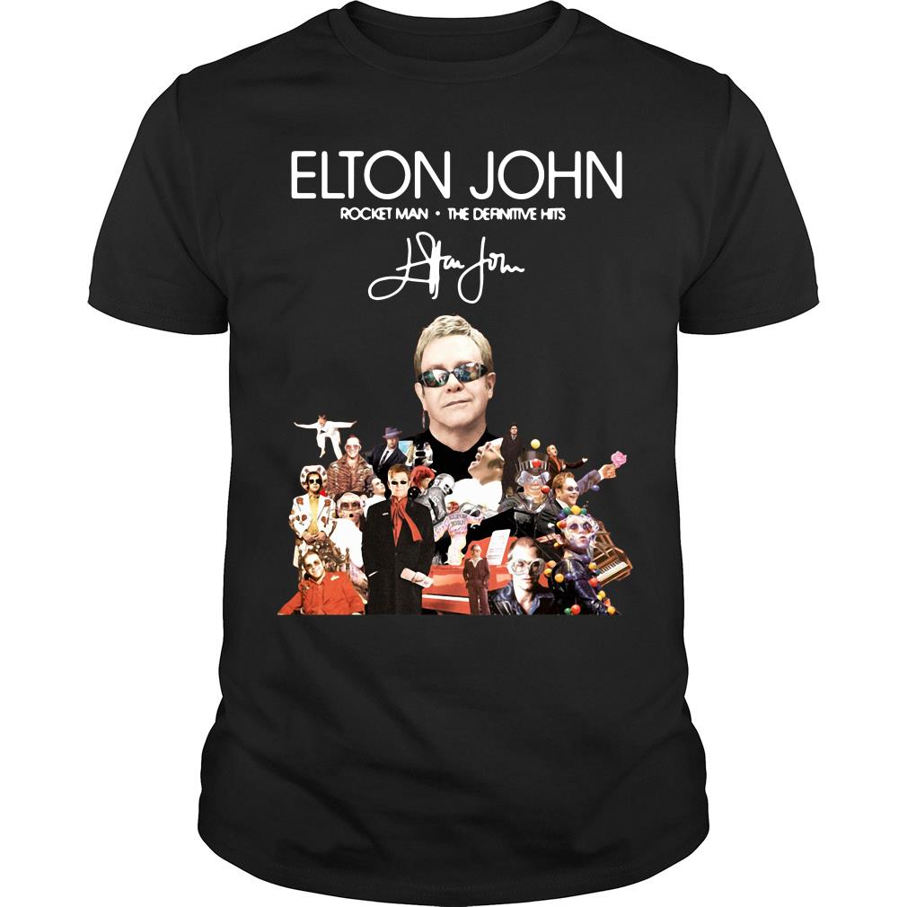Elton John Rocket Man The Definitive Hits Shirt