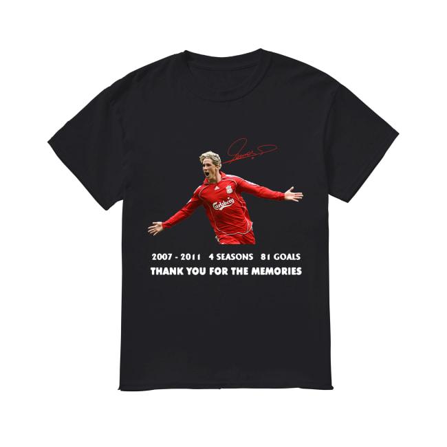 Fernando torres 2007-2011 4 seasons 81 goals thank you for the memories signature shirt