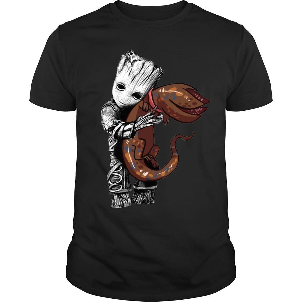 Groot hug Demodog shirt