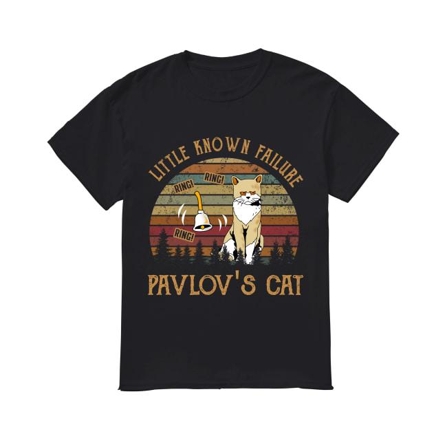 Little known failure pavlov's cat ring ring ring vintage sunset shirt