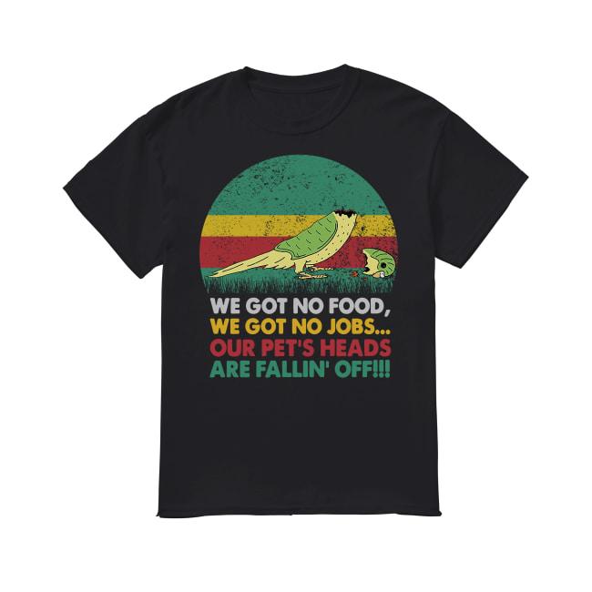 Parrot we got no food we got no jobs vintage sunset shirt