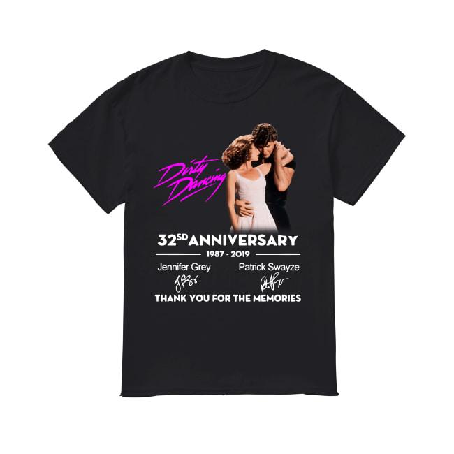 Dirty Dancing 32sd anniversary 1987 2019 Jennifer Grey Patrick Swayze signature thank you for the memories shirt