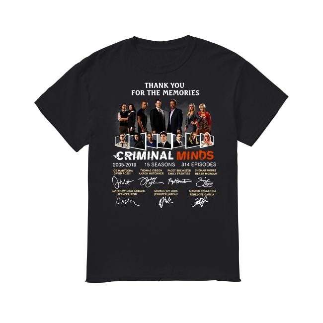 Thank you for the memories Criminal minds signature shirt