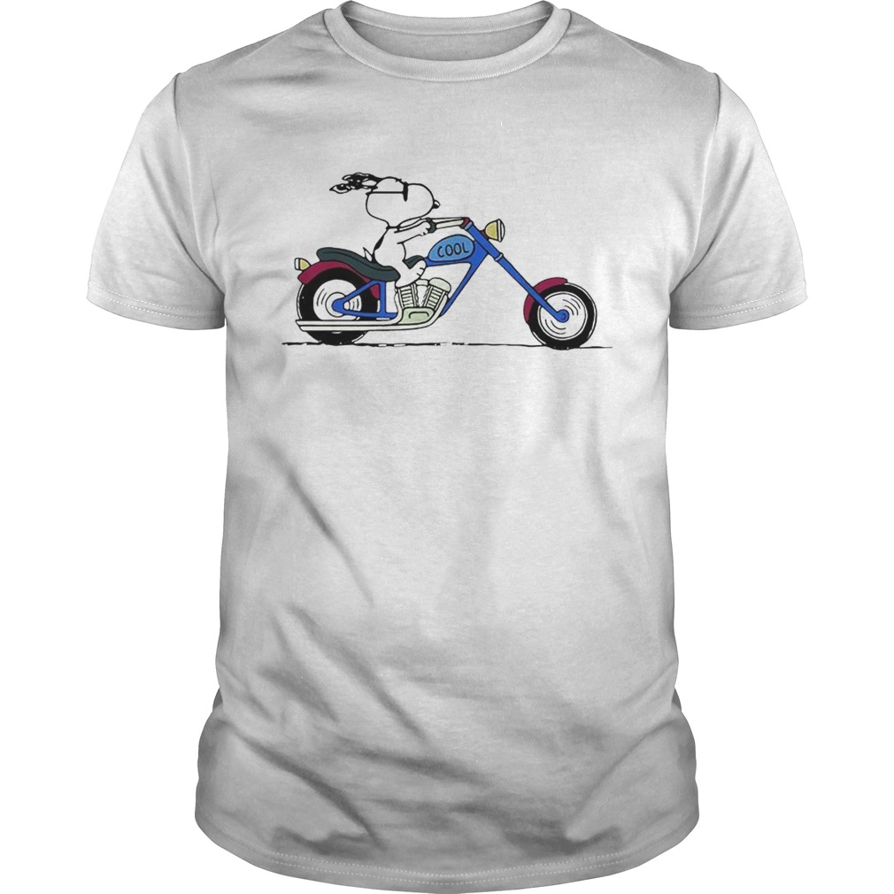 Cool Snoopy riding motorcycle Peanuts  Unisex