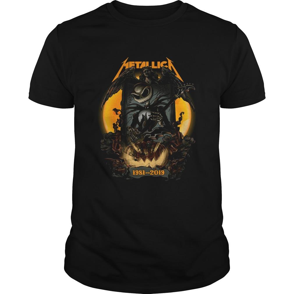 Jack Skellington Halloween Metallica 1981 2019  Unisex