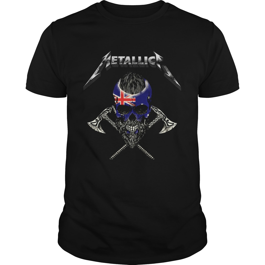 Metallica viking skull australia flag  Unisex