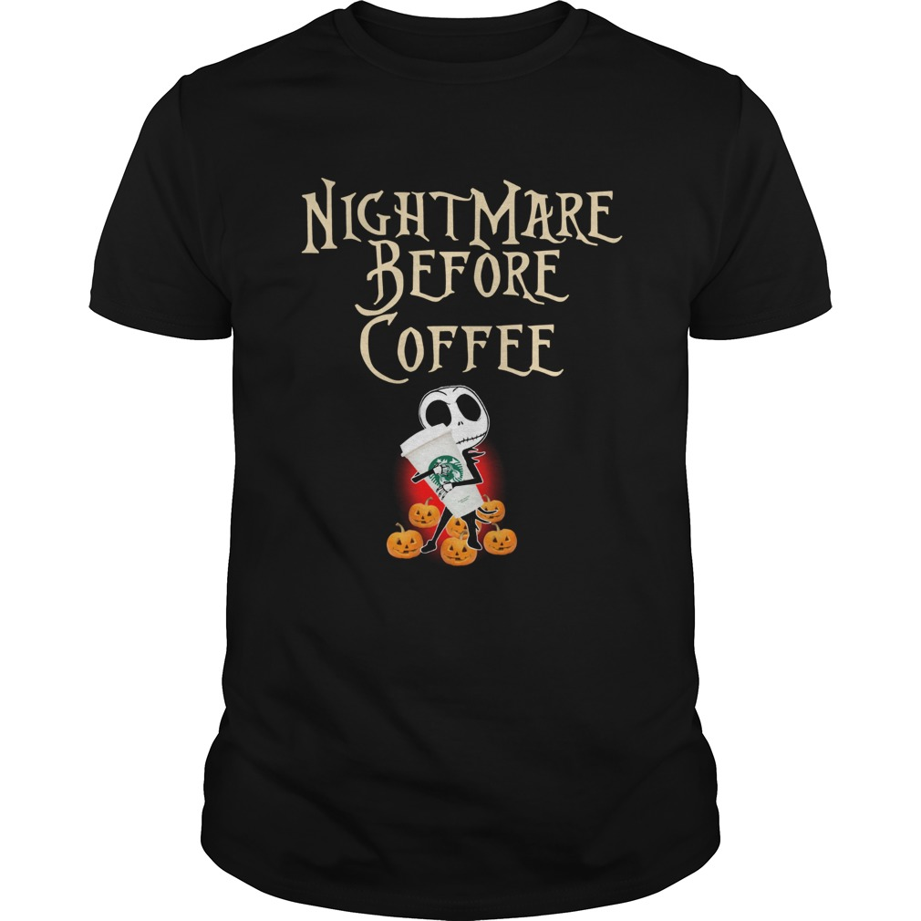 Nightmare Before Coffee Skellington hug Starbucks  Unisex