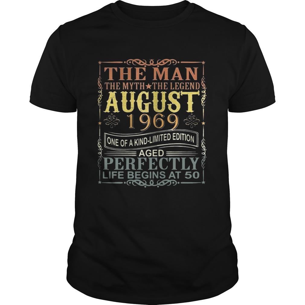 1969 Man Myth Legend August 50th Bday Gifts 50 yrs old TShirt Unisex