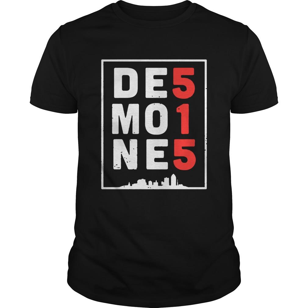 Des Moines 515 Tee Shirt Unisex