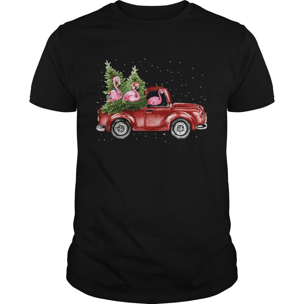 Flamingo truck Christmas tree  Unisex