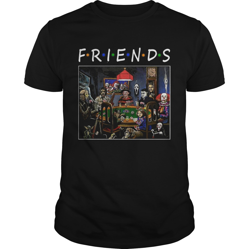 Friends Horror Halloween playing card  Unisex