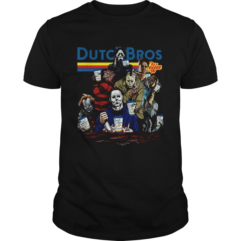 Horror Character movie Dutch Bros coffee  Unisex