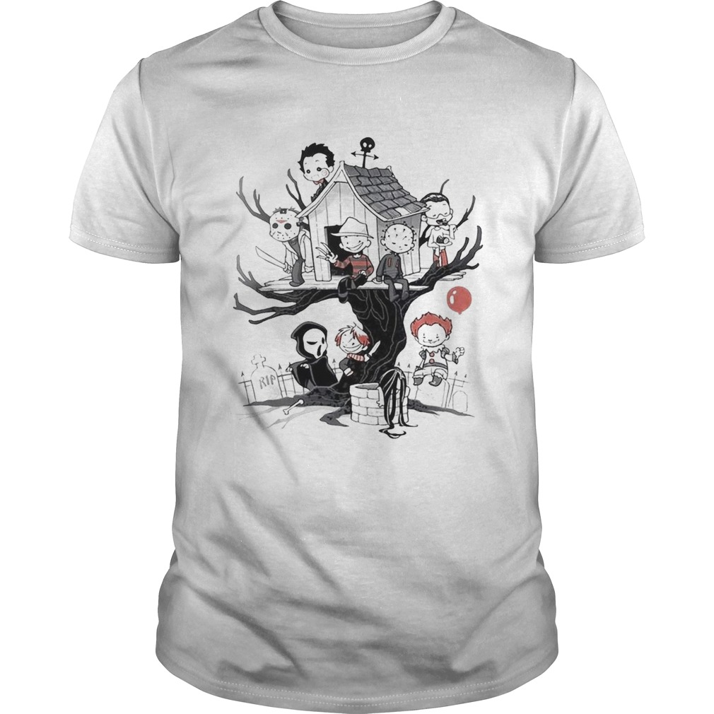 Maniac Park Horror movie Theme Park tree Halloween 2019 shirt