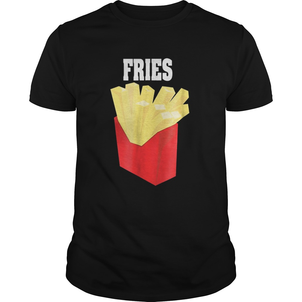 Nice French Fries Couples Halloween Costume BurgerFries  Unisex