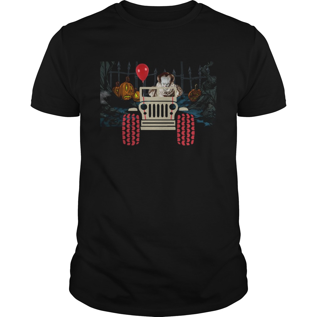 Pennywise and Jeep Halloween shirt