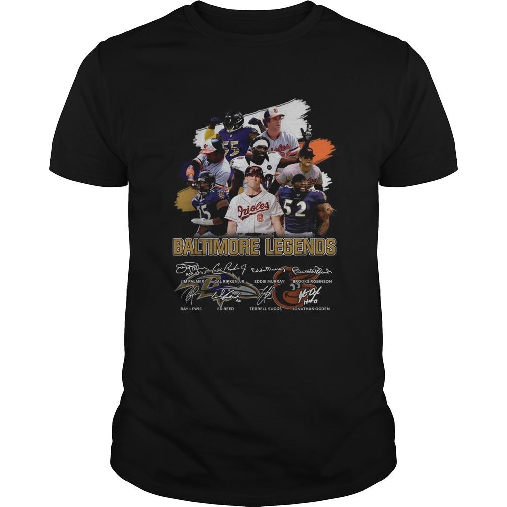 Baltimore Ravens Legends team player signatures  Unisex