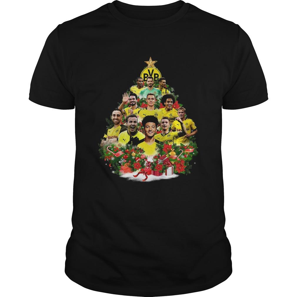 Borussia Dortmund Player Christmas Tree Shirt Unisex
