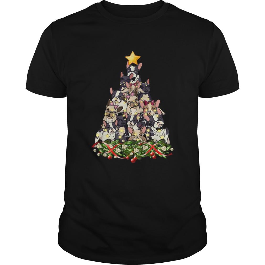 French Bulldog Dog Christmas Light Decor Christmas Tree  Unisex