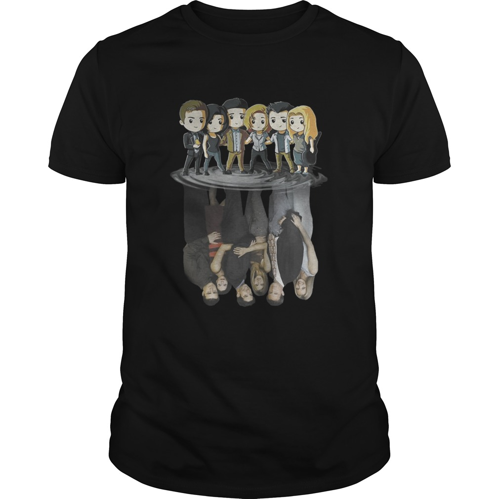 Friends Tv Characters Chibi Water Reflection Shirt Unisex