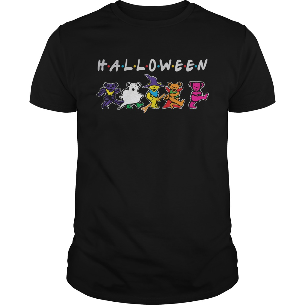 Halloween friends grateful dead bear dancing shirt