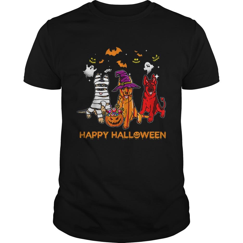Happy Halloween German Shepherd Gift Pumpkin Mummy  Unisex