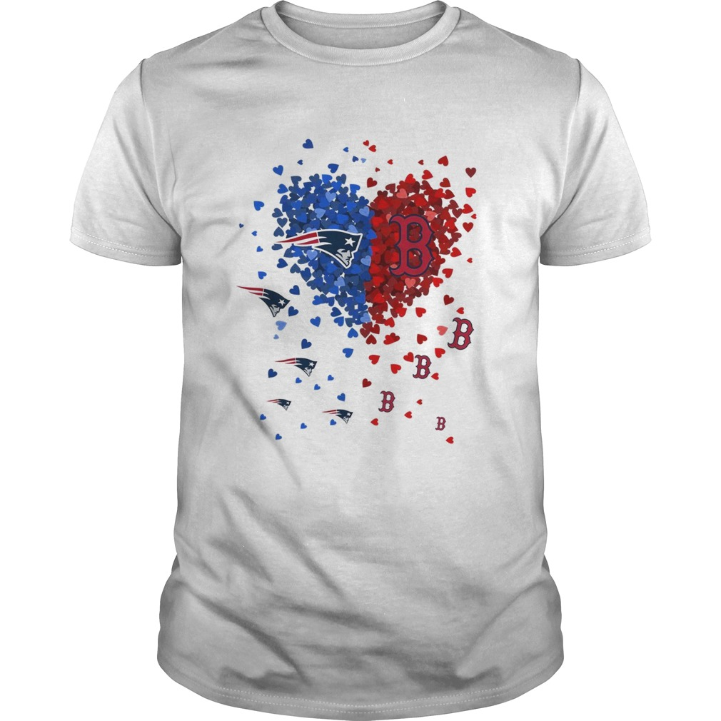 I love New England Patriots and Boston Red Sox heart shirt