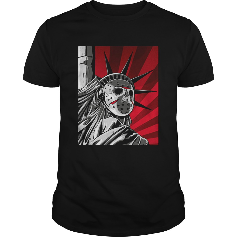 Jason Voorhees statue of liberty shirt