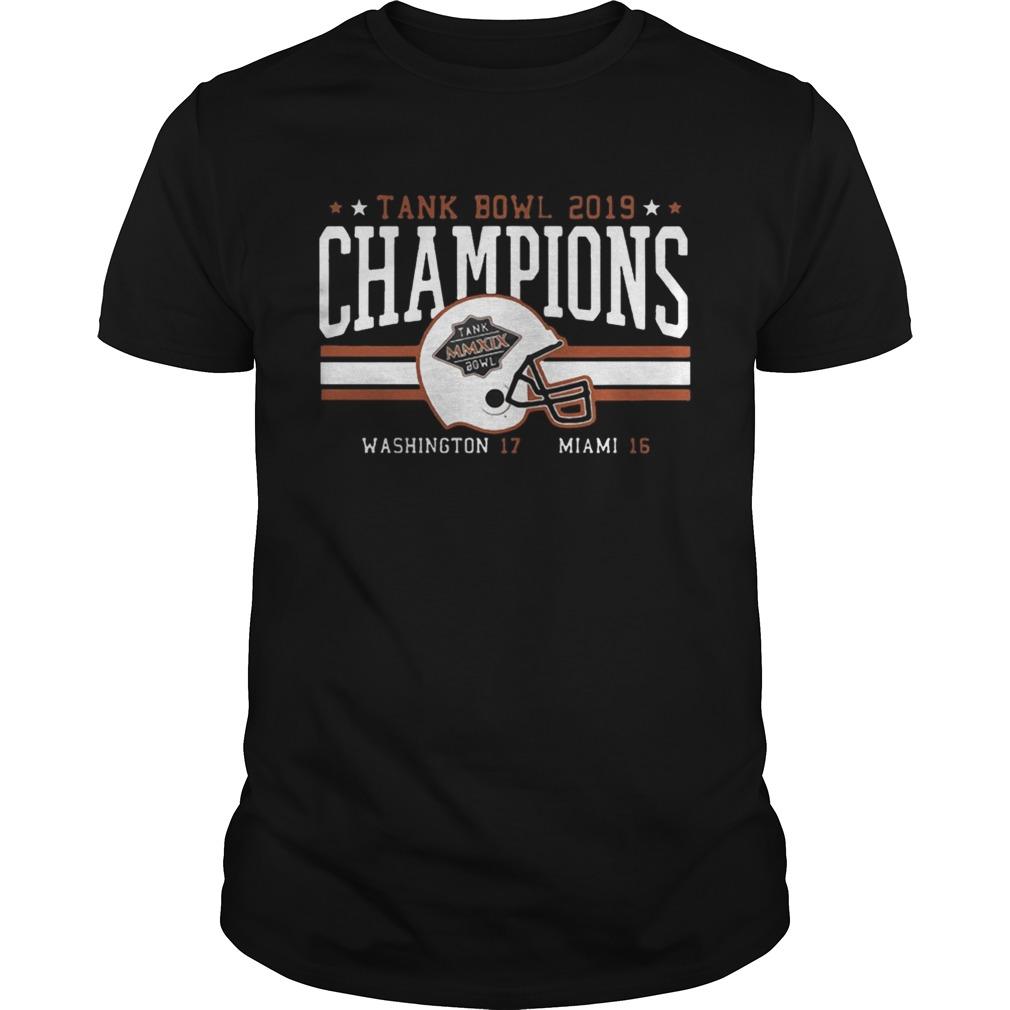 Miami Football Tank Bowl Champs 2020 t Unisex