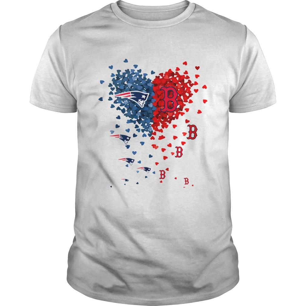 New England Patriots And Boston Red Sox Tiny Hearts Shape Shirt Unisex