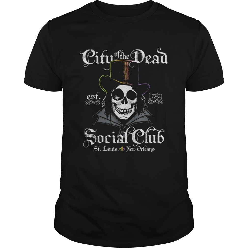 New Orleans City Of The Dead Doctor Goth Skull Halloween  Unisex