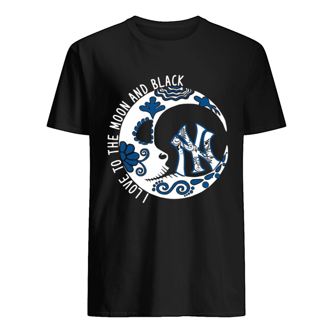 New York YanKees I love to the Moon and black Classic Men's T-shirt