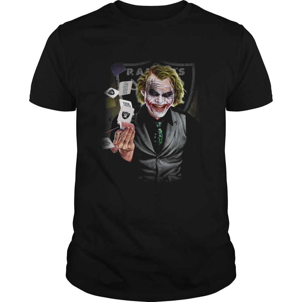 Oakland Raiders Joker Poker Shirt Unisex
