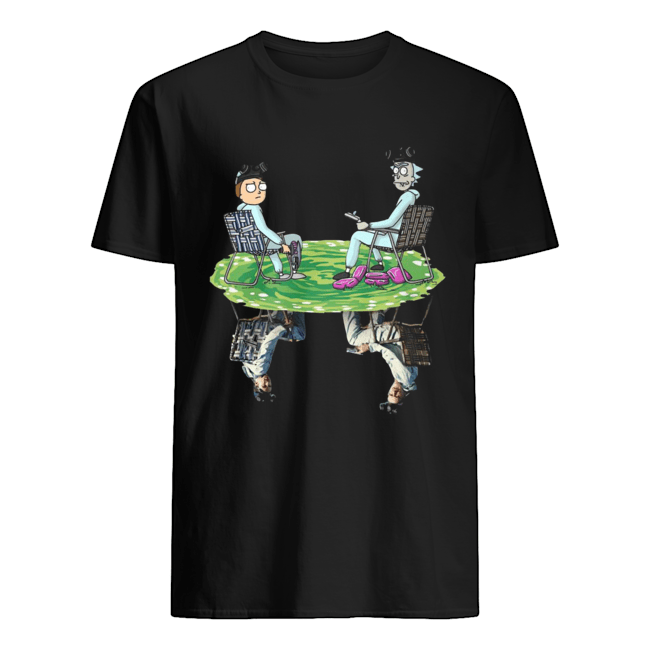 Rick and Morty Crossover Walter and Jesse Breaking Bad  Classic Men's T-shirt