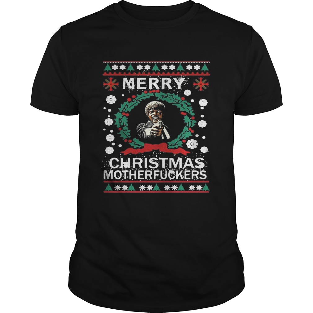 Samuel L Jackson Merry Christmas Motherfucker Shirt Unisex